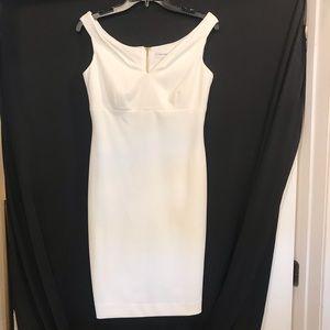 Calvin Klein White Sheath Dress